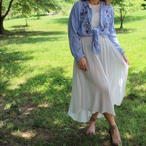 Free People flowy, white Maxi dress